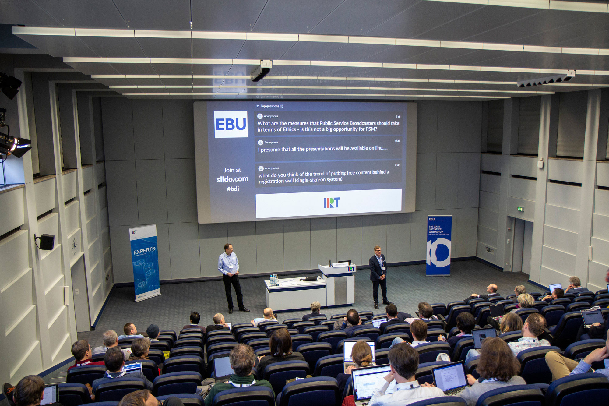 "Der EBU Big Data Workshop ""Data in the newsroom"" im Februar 2019 im IRT"